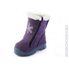 Валенки Римал 61234 снежинка фиолетовые. Размеры 22-24