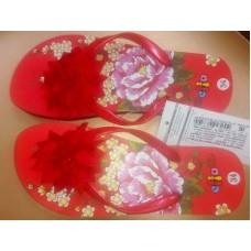 Пляжная обувь (лилия) красн