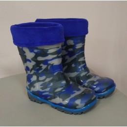 Сапоги ПВХ Дюна 220 РУB камуфляж синий. Размеры 23-26