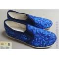 Тапочки 399-В синие (хлопок) 170-185